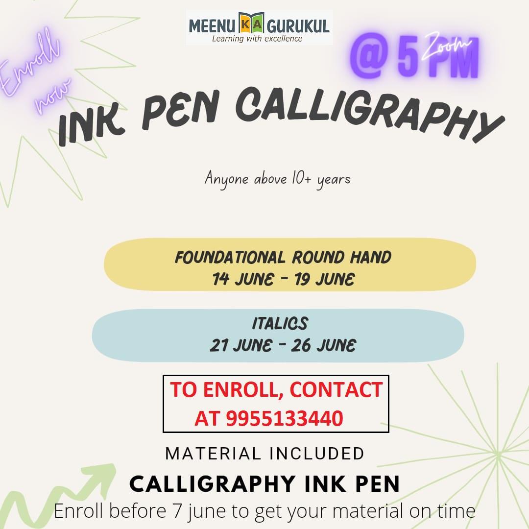 Ink Pen Calligraphy